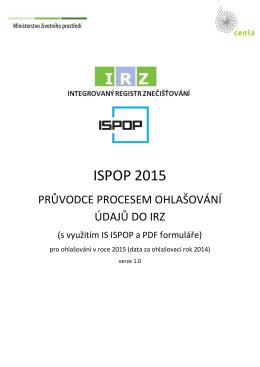 Průvodce procesem ohlašování údajů do IRZ