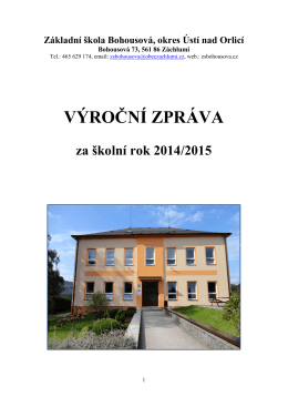 Výroční zpráva školy 2014-2015