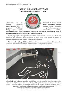 Tisková zpráva - Vysoká škola Karlovy Vary