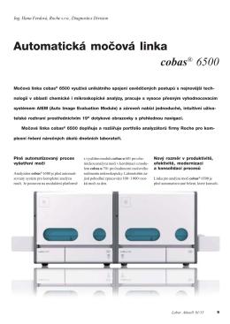 Automatická močová linka cobas® 6500