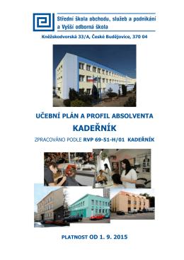 KADEŘNÍK - Střední škola