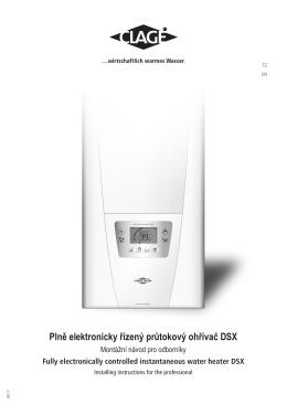 Plně elektronicky řízený průtokový ohřívač DSX