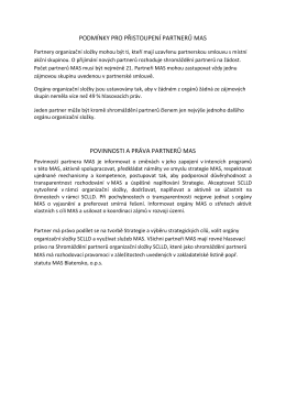 podmínky pro přistoupení partnerů mas povinnosti a