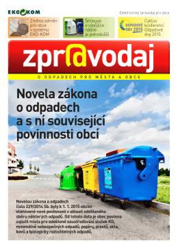 Novela zákona o odpadech a s ní související povinnosti - Eko-kom