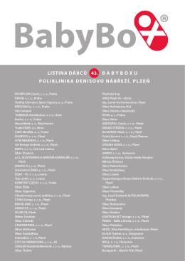 dárcům - Babybox