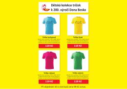 Dětská kolekce triček k 200. výročí Dona Boska