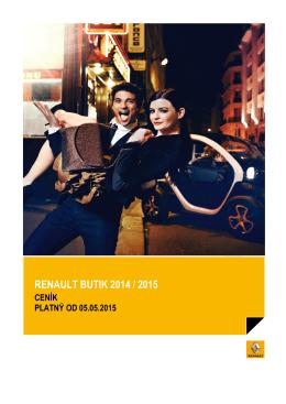 RENAULT BUTIK 2014 / 2015