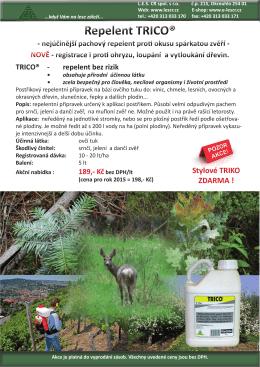 LES CR Repelent na ochranu rostlin Trico 2015