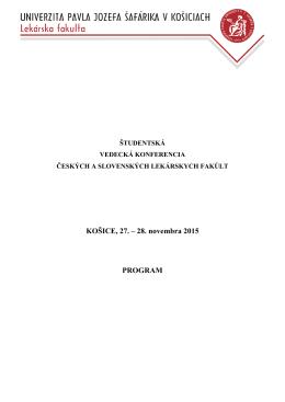 Program prednášok - Lekárska fakulta