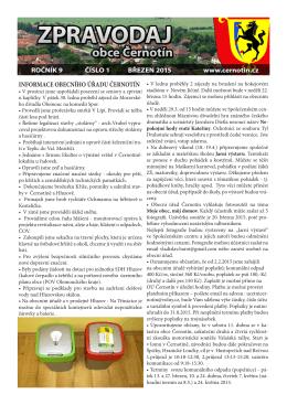 Březen 2015 - Oficiální stránky obce Černotín