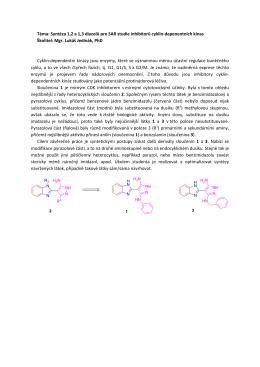 Téma: Syntéza 1,2 a 1,3 diazolů pro SAR studie inhibitorů cyklin