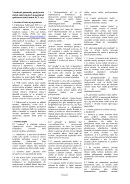 Všeobecné podmínky poskytování služeb SoftControl NET s.r.o.