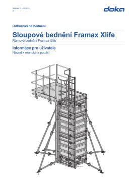 Informace pro uživatele (cz) Sloupové bednění Framax Xlife