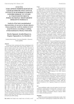 Analýza základních morfologických charakteristik současných