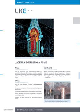 JADERNÁ ENERGETIKA / ASME Code analýzy