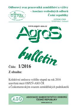agros bulletin 2016/01