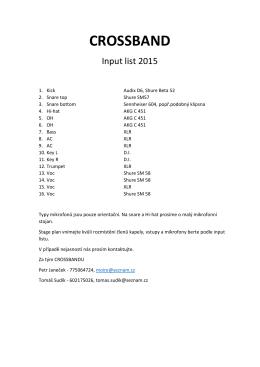 Input list a stage plán