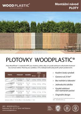 Ploty WoodPlastic® - Montážní návod ke stažení