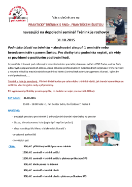 Propozice prakt. trénink 31.10.2015 PDF