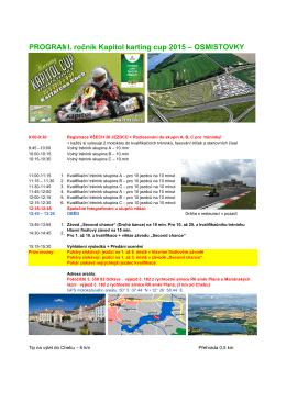 PROGRAM:I. ročník Kapitol karting cup 2015 – OSMISTOVKY
