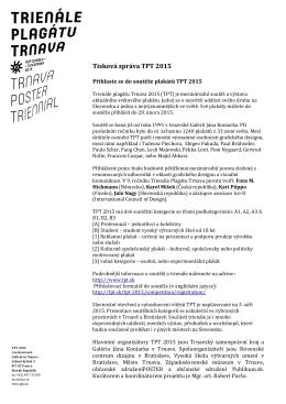 Tisková zpráva TPT 2015