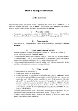 podmínky soutěže v pdf