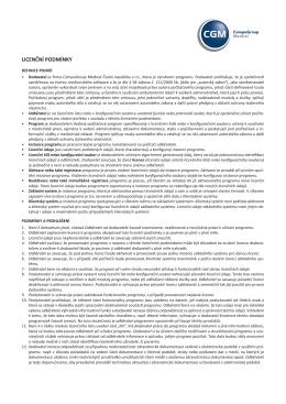151130 Licenční podmínky CGM.indd
