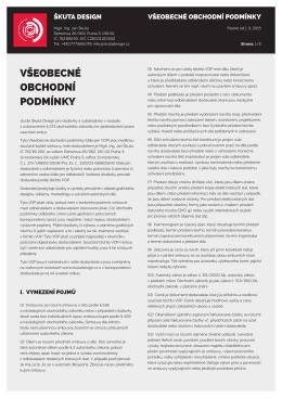 Škuta Design / Všeobecné obchodní podmínky