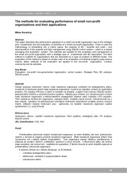 Metoda hodnocení výkonnosti malých neziskových organizací