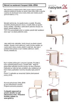 Návod na sestavení houpací židle JENA