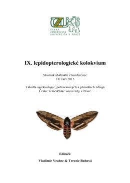 IX. lepidopterologické kolokvium