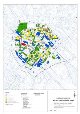 Program regenerace MPZ Opava, grafika část – urbanistický