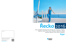 Katalog Řecko 2016 - Greece Tours Prague