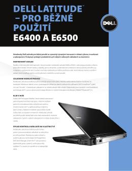 Pro běžné PoUžITí E6400 A E6500
