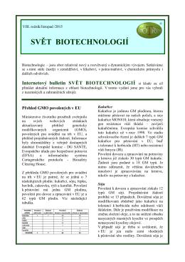 Svět Biotechnologií 2015/11