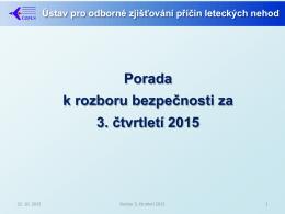 3. čtvrtletí 2015 - Ústav pro odborné zjišťování příčin leteckých nehod