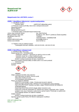 Bezpečností list ALBITE E-EF