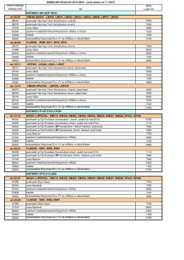 BÉBÉCAR KATALOG 2015-2016 - ceník platný od 1.7.2015 strana