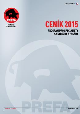 Ceník 2015 ke stažení zde