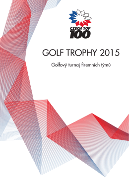 prezentace czech top 100 golf trophy 2015