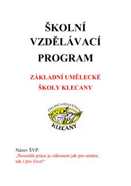 Školní vzdělávací program 2015/2016