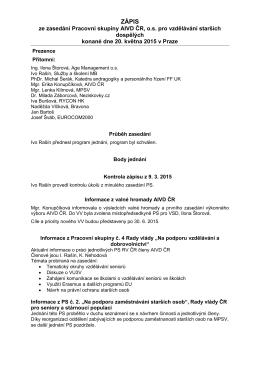 Zápis z PS pro VSD dne 20.05.2015 - Asociace institucí vzdělávání