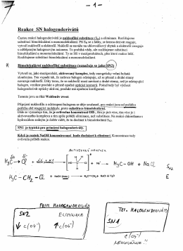 "Reakce SN halogenderivatu 5""-"