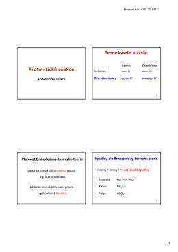 Protolytické reakce