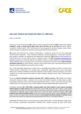 150910 ARI_CACE Reakce na clanek MF MPribila