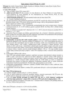 Zápis z jednání výboru