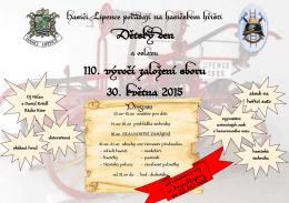 Pozvánka na Dětský den a oslavy 110.výročí založení