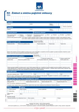 R2 - změnový formulář