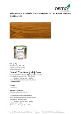 Osmo UV ochranný olej Extra - AU-MEX