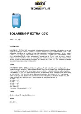 SOLAREN® P EXTRA -30°C